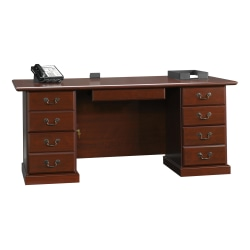 "Sauder® Heritage Hill 71""W Executive Desk, Classic Cherry"