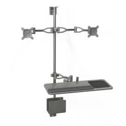 "Balt® Monitor Arm For Economy Wall Mount Workstation, 4.75"" x 19.5"" x 3"", Black, 90378"