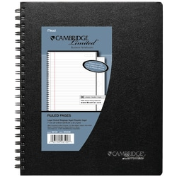 "Cambridge® Limited® Business Notebook, 8 1/2"" x 11"", 1 Subject, Legal Ruled, 96 Sheets, Black (06100)"