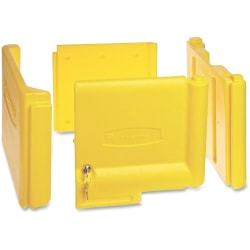 """Rubbermaid Commercial Locking Janitor Cart Cabinet - 20"""" x 16"""" x 11.2"""" - Yellow - Polyethylene"""
