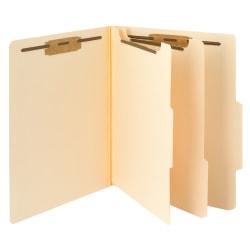 Smead® Manila Classification Folders, 2 Dividers, Letter Size, Box Of 10