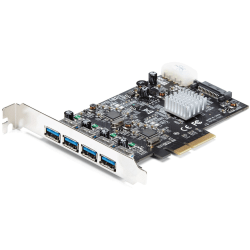 StarTech.com 4 Port USB 3.1 PCI-e Card (10Gbps) - 4x USB-A with Two 10Gbps Dedicated Channels - USB 3.1 Card - USB Expansion Card - PCI Express 3.0 x4 - Plug-in Card - 4 USB Port(s) - 4 USB 3.1 Port(s) - UASP Support - PC, Mac, Linux