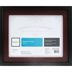 """Realspace™ Photo/Document Frame, Gallery, 11"""" x 14"""", Matted For 8-1/2"""" x 11"""", Black"""