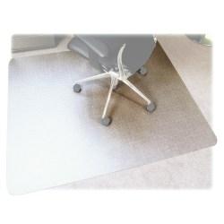 "Floortex Polycarbonate Rectangular Chair Mat For Thick Carpet, 53"" x 48"", Clear"