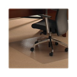 "Floortex Polycarbonate Rectangular Chair Mat For Thick Carpet, 35"" x 47"", Clear"