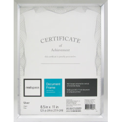 """Realspace™ Photo/Document Frame, Easy Angle, 8-1/2"""" x 11"""", Silver"""