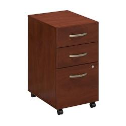 Bush Business Furniture Components Elite 3 Drawer Mobile File Cabinet, Hansen Cherry, Standard Delivery