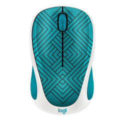 Logitech® Design Collection Wireless Mouse, Teal Maze, 910-005838