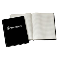 """Accounting Book With Marine Logo, 10 1/2"""" x 8"""", 192 Pages"""