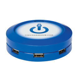 ChargeHub X7 7-Port USB Charger, Round, Blue, CRGRD-X7-004