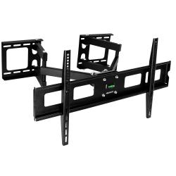 "Mount-It MI-484C Full-Motion Corner TV Wall Mount For Screens 37 - 63"", 17-1/2""H x 34""W x 4-1/2""D, Black"