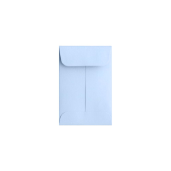 "LUX Coin Envelopes, #1, 2 1/4"" x 3 1/2"", Baby Blue, Pack Of 50"