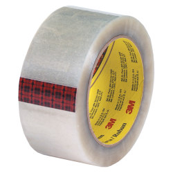 """3M® 313 Carton Sealing Tape, 2"""" x 55 Yd., Clear, Case Of 36"""