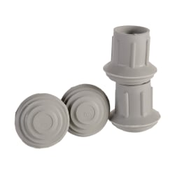 """DMI® #19 Walker And Cane Replacement Tips, 7/8"""", Gray, Pack Of 4"""