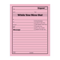 """Adams® """"While You Were Out"""" Message Pads, 4 1/4"""" x 5 1/2"""", 50 Sheets, Pink, Pack Of 12"""