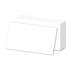 """Office Depot® Brand Blank Index Cards, 3"""" x 5"""", White, Pack Of 100"""