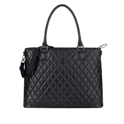 """Solo® Waldorf Tote With 15.6"""" Laptop Pocket, Black"""