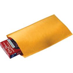 "Sealed Air Jiffylite Bulk-packed Cushioned Mailers - Padded - #000 - 4"" Width x 8"" Length - Self-sealing - Satin, Kraft - 250 / Carton - Gold"
