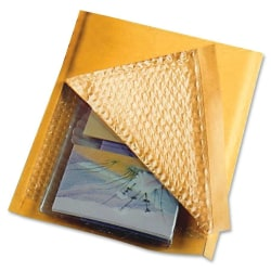 "Sealed Air Jiffylite® Cushioned Mailers, #0, 6"" x 10"", 100% Recycled, Satin Gold, Box Of 200"