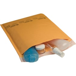 "Sealed Air Jiffylite Bubble Cushioned Mailers - Padded - #5 - 10 1/2"" Width x 16"" Length - Peel & Seal - Kraft - 80 / Carton - Gold"