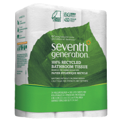 Seventh Generation® 2-Ply Toilet Paper, 100% Recycled, 300 Sheets Per Roll, Pack Of 24 Rolls