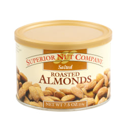 Superior Nut Salted Roasted Almonds, 7.5 oz, 12 Count