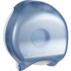 "San Jamar Classic Wall Single 9"" Jumbo Bathroom Tissue Dispenser, Arctic Blue"