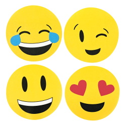 """Post-it® Super Sticky Notes, 3"""" x 3"""", Emoji Shape, Pack Of 2 Pads"""