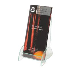 "Deflecto® Euro-Style Leaflet DocuHolder®, 8""H x 4 1/2""W x 3 3/4""D, Clear/Green"