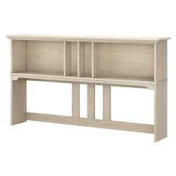 "Bush Furniture Salinas Hutch for L Shaped Desk, 60""W, Antique White, Standard Delivery"