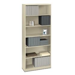 "HON® Brigade® 81 1/8"" 6 Shelf Transitional Bookcase, Off-White/Light Finish, Standard Delivery"