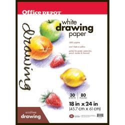 "Office Depot® Brand Art Drawing Pad, 18"" x 24"", 30 Sheets"
