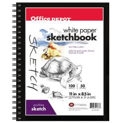 "Office Depot® Brand Sketchbook, 8 1/2"" x 11"", 100 Sheets"