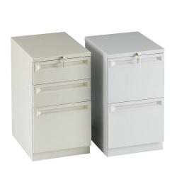 "HON® Efficiencies™ 22-7/8""D Vertical 3-Drawer Mobile Pedestal Cabinet, Black"