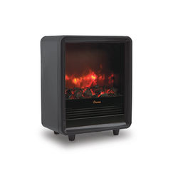 "Crane Fireplace 1,500-Watt Heater, 12 1/2""H x 15""W x 7 1/2""D, Black"