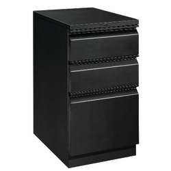 "HON® Efficiencies™ 19-7/8""D Vertical Mobile Pedestal Cabinet, Metal, Black"
