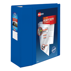 """Avery® Heavy-Duty View Binder With Locking EZD Rings, 5"""" Rings, 38% Recycled, Pacific Blue"""