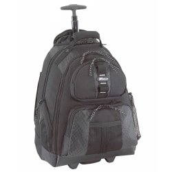 "Targus® Rolling Backpack, 19 1/2""H x 15""W x 9""D, Black"