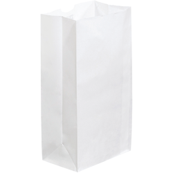 """Partners Brand Grocery Bags, 11""""H x 6""""W x 3 5/8""""D, White, Case Of 500"""