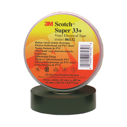 "3M™ 33+ Electrical Tape, 3/4"" x 22 Yd., Black, Pack Of 10"