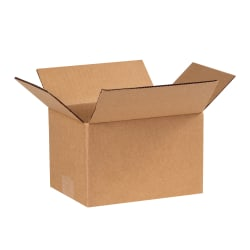 "Office Depot® Brand Corrugated Cartons, 8"" x 6"" x 5"", Kraft, Pack Of 25"