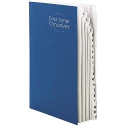 Smead® A-Z 1-20 Desk File/Sorter, Legal Size, 35% Recycled, Blue