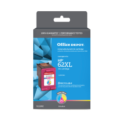 Office Depot® Brand OD62XLC Remanufactured High-Yield Tri-Color Ink Cartridge Replacement For HP 62XL
