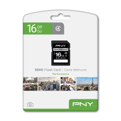 PNY 16GB Performance Class 4 SDHC Flash Memory Card, Pack Of 20