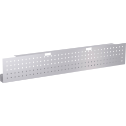 "Lorell® Training Table Steel Silver Modesty Panel, 54""W, Metallic Silver"