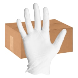 ProGuard Powdered General-purpose Gloves - Medium Size - Vinyl - Clear - Powdered, Disposable, Ambidextrous, Rolled Cuff, Beaded Cuff, Light Duty, Safety Cuff - For Multipurpose, Cleaning, Food Handling - 1000 / Carton - 4 mil Thickness