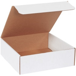 """Office Depot® Brand White Literature Mailers, 12"""" x 12"""" x 4"""", Pack Of 50"""