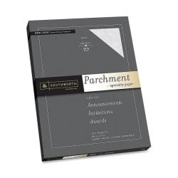 """Southworth P974CK/3/36 Parchment Paper - Letter - 8 1/2"""" x 11"""" - 24 lb Basis Weight - Parchment - 100 / Pack - Gray"""