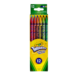 Crayola® Twistables® Color Pencils, Assorted Colors, Set Of 12