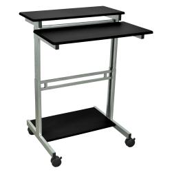 "Luxor Standup Desk, 31-1/2""W, Black/Gray"